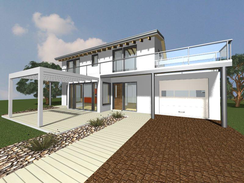 Progetto villetta 2 piani bipiano progetti case mobili for Piani di casa di 1500 mq
